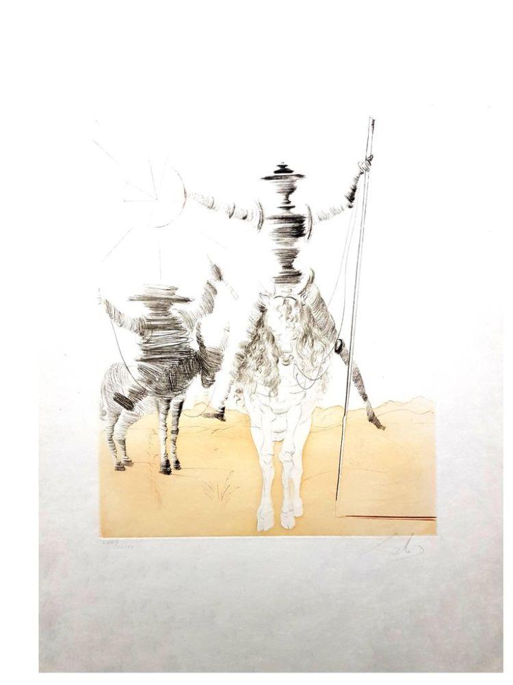 Lithograph Dali - Don Quixote et Sancho