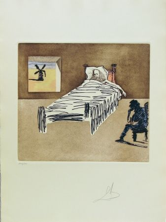 Etching And Aquatint Dali - Don Quixote Man of La Mancha - Le Legacy