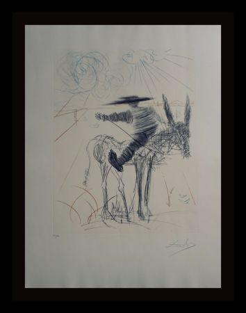 Etching Dali - Don Quixote & Sancho Panza Sancho Panza