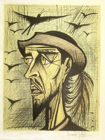 Lithograph Buffet - Don Quixote with Hat