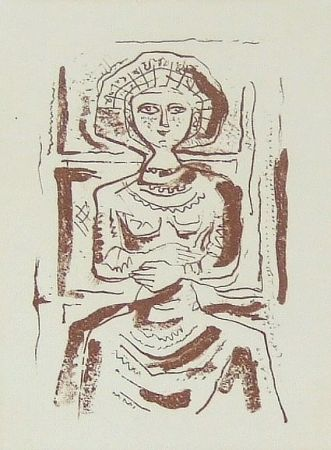 Etching And Aquatint Campigli - Donna
