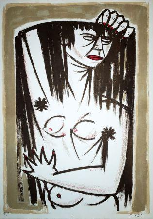 Lithograph Migneco - Donna
