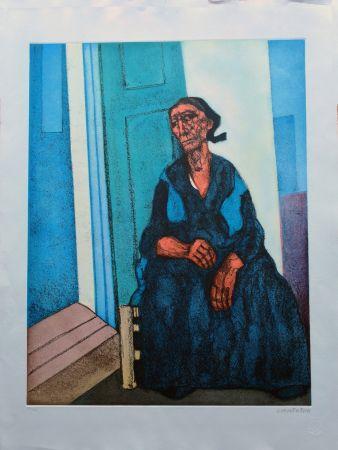 Engraving Cantatore - Donna del sud