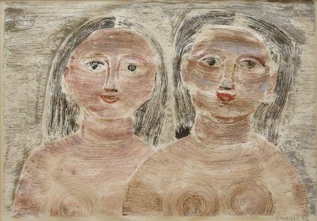 Monotype Campigli - Donne