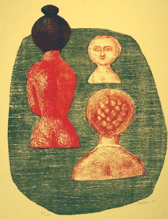 Lithograph Campigli - Donne a Ischia