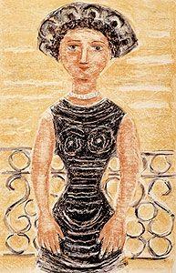Lithograph Campigli - Donne al balcone