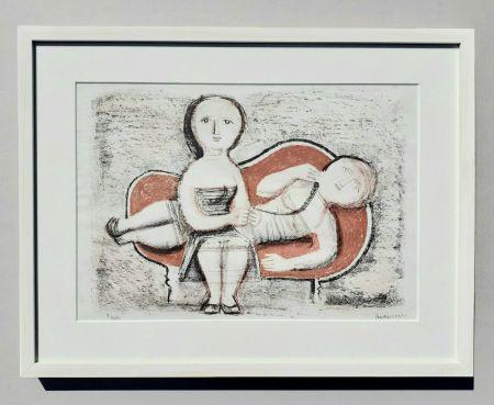 Lithograph Campigli - Donne sul divano