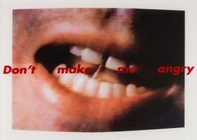 Screenprint Kruger - Don't Make Me Angry