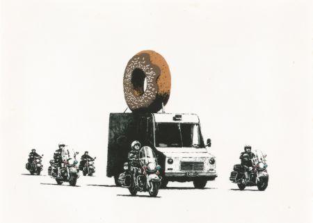 Screenprint Banksy - Donut (brown)