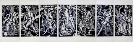 Woodcut Eekman - Dooddans In Zeven Tempo's (Dance Of Death In Seven Mouvements))
