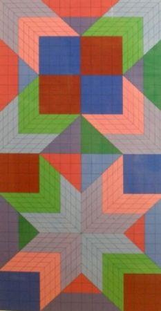 Screenprint Vasarely - Door