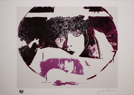 Screenprint Fioroni - Doppio Liberty Violet