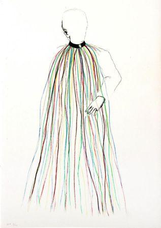 Lithograph Dine - Dorian Gray in Multi-Colored Vinyl Stripe Cape