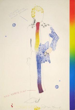 Lithograph Dine - Dorian Gray, Rainbow