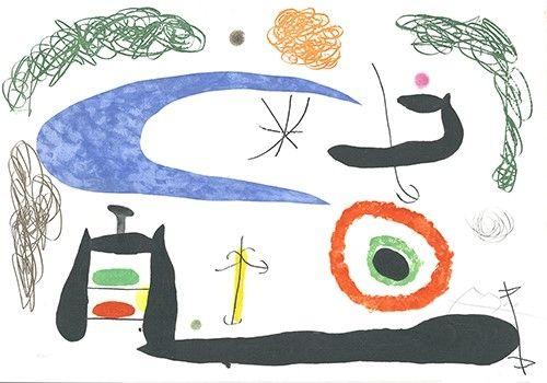 Etching And Aquatint Miró - Dormir sous la lune