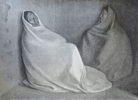 Lithograph Zuniga - Dos Mujeres Sentada