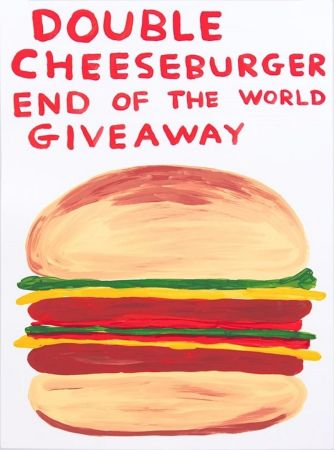 Screenprint Shrigley - Double Cheeseburger End Of The World Giveaway