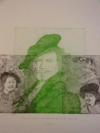 Etching Gendre-Bergère -  Double Je. Improvisation autour d'autoportraits gravés de Rembrandt
