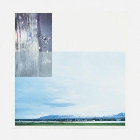 Lithograph Baldessari - Double Motorcyclists and Landscape (Icelandic)