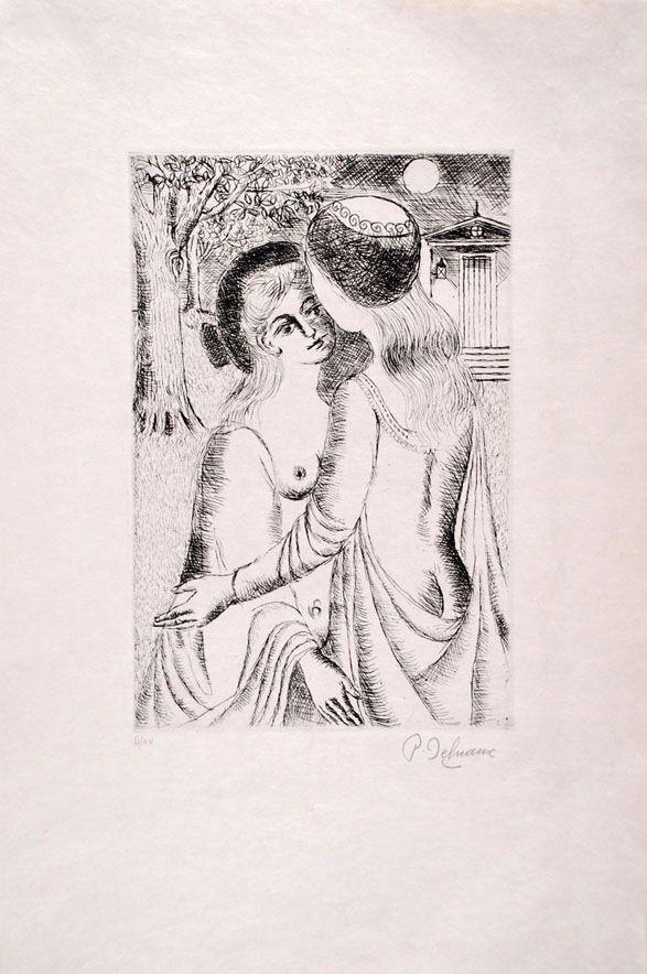 Engraving Delvaux - Douce Nuit