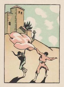 Woodcut Hermann-Paul - Douze dessins pour amour de Goya, composés et gravés par Hermann-Paul