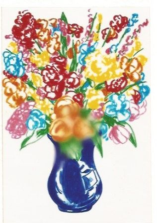 Lithograph Koons - DOW-Flowers