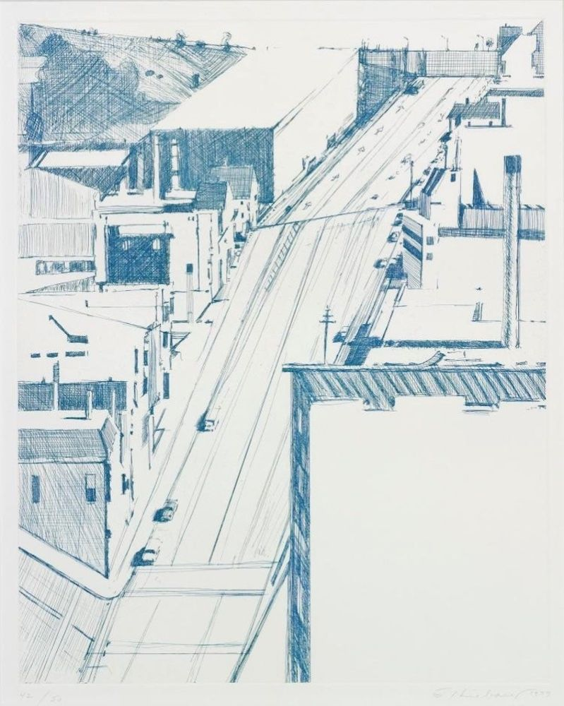 Etching Thiebaud - Down 18th