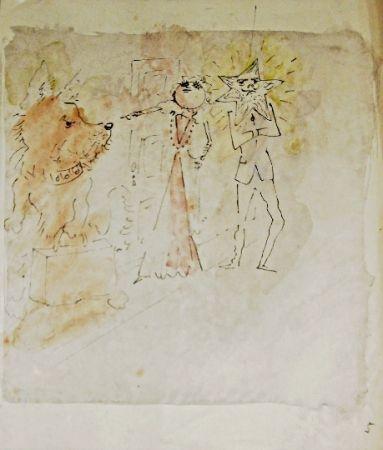 Lithograph Cocteau - Drôle de ménage