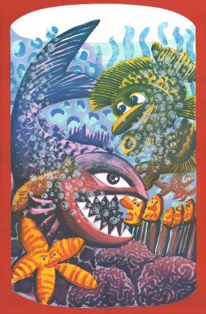 Lithograph Di Rosa - Drame dans l'Aquarium