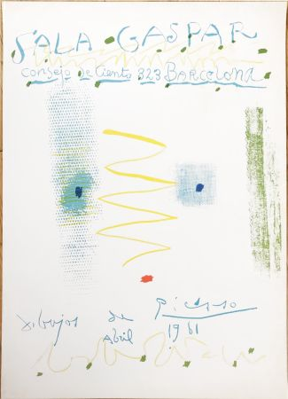 Lithograph Picasso - Drawings by Picasso - poster - Sala Gaspar, Barcelona (