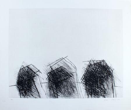 Drypoint Paul - Drei Häuser / Three Houses