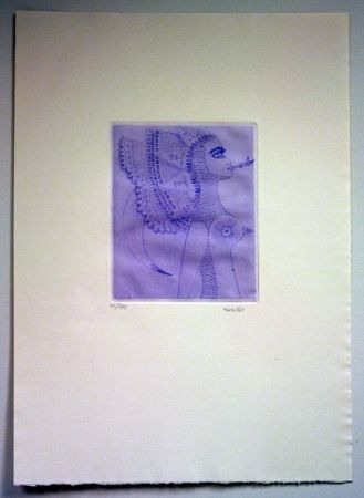 Etching Svanberg - Dromkvinnans kyss