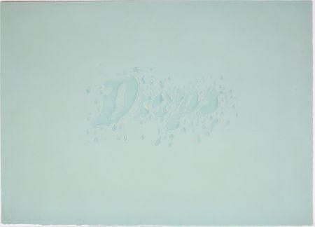 Lithograph Ruscha - Drops