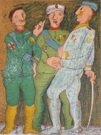 Lithograph Baj - Du Soldat