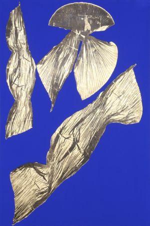 Lithograph Benglis - Dual Nature (Blue) I