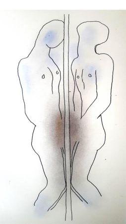 Lithograph Cocteau - Dualité