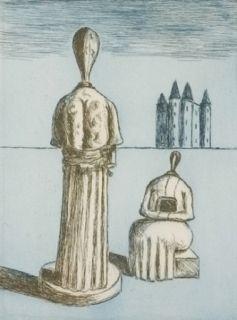 Etching De Chirico - Dualité, les muses inquiétantes