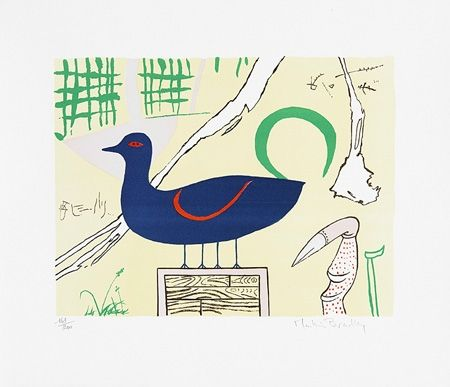 Lithograph Bradley - Duck