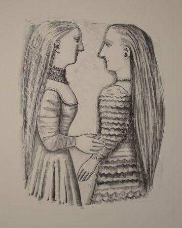 Lithograph Campigli - Due Donne di Profilo