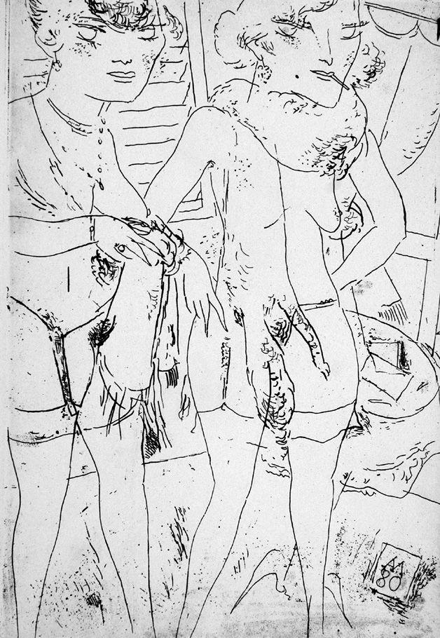 Engraving Manfredi - Due modelle