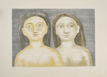 Lithograph Campigli - DUE SORELLE