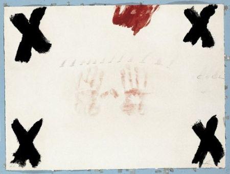 Etching Tàpies - Dues mans