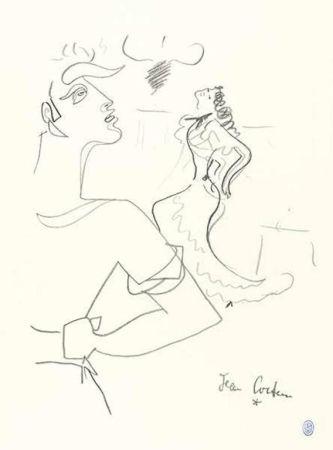 Lithograph Cocteau - Duo