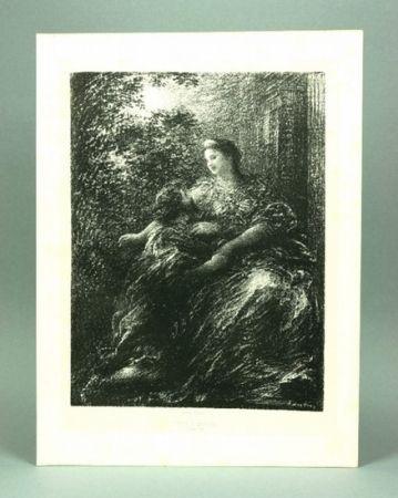 Lithograph Fantin-Latour - Duo des Troyens (6º planche)