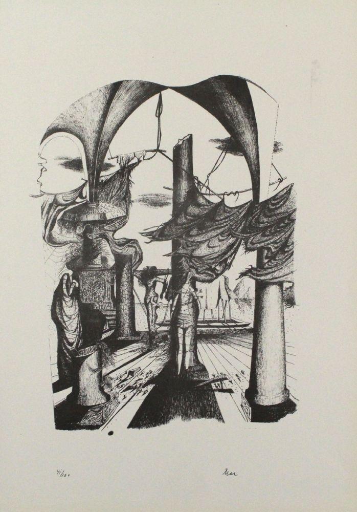 Lithograph Zimmermann - Durch ein Nadelöhr II / Through a Needle's Eye II