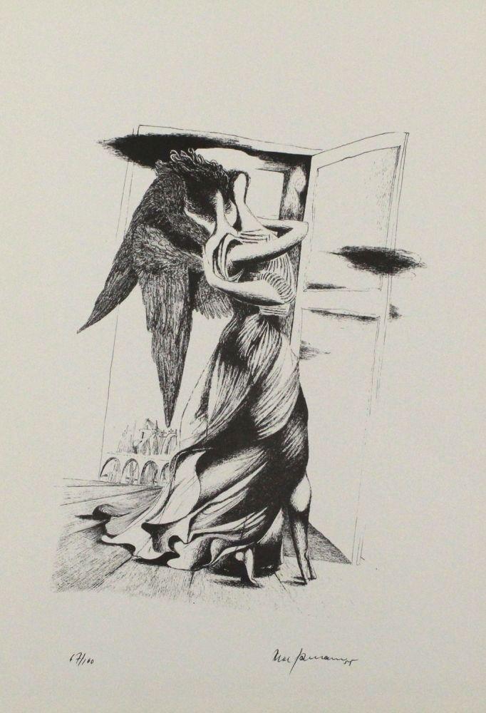 Lithograph Zimmermann - Durch ein Nadelöhr III / Through a Needle's Eye III