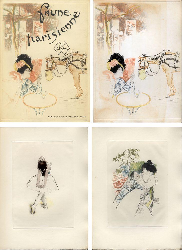 Illustrated Book Legrand - E. Ramiro : FAUNE PARISIENNE. La suite des gravures signées par Louis Legrand (1901)
