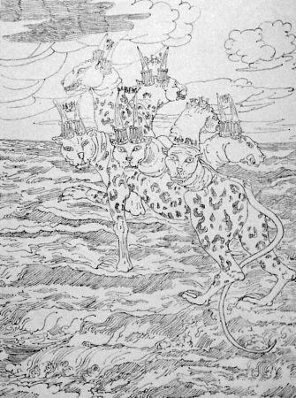 Lithograph De Chirico - E vidi una bestia salir su dal mare...
