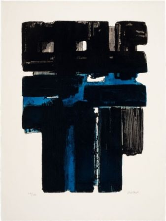 Etching And Aquatint Soulages - Eau-Fort Xa