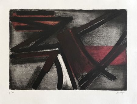 Etching Soulages - Eau-forte II